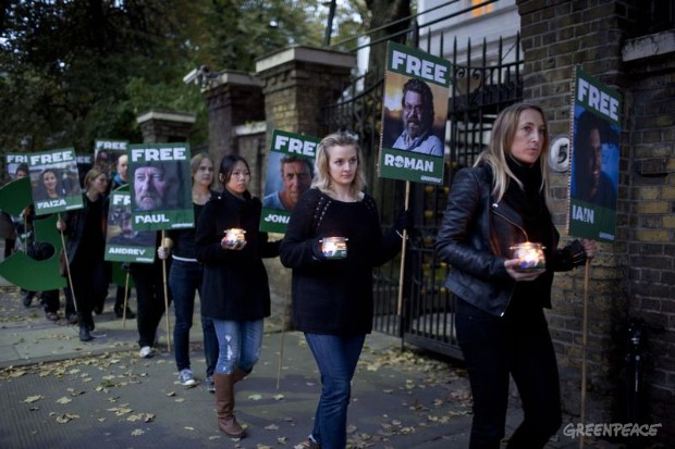 'Arctic 30' 30 days of injustice protest UK