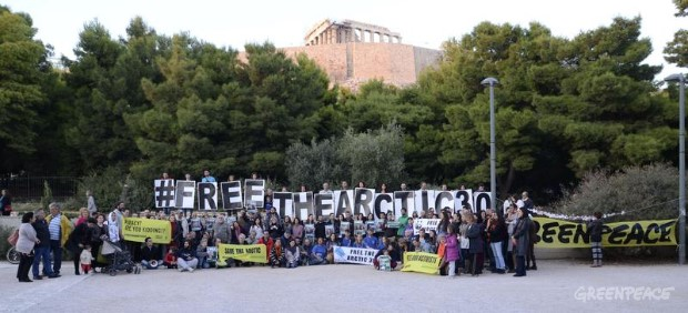 'Arctic 30' Global Day of Solidarity in Greece