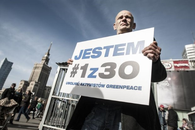 'Arctic 30' Global Day of Solidarity in Warsaw