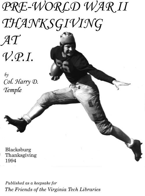 Pre-World War II Thanksgiving at V.P.I.