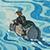 Illustration by J.R.R.Tolkien of Bilbo on a raft